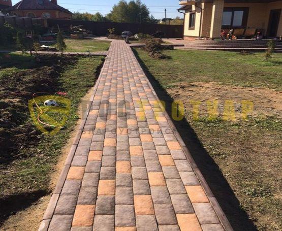 Укладка тротуарной плитки Английский булыжник