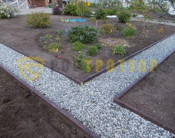 Бордюр садовый 1000х200х80 мм