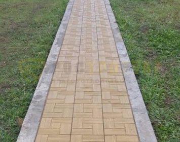 Пешеходная дорожка мощенный тротуарной плиткой калифорния доска желтого цвета