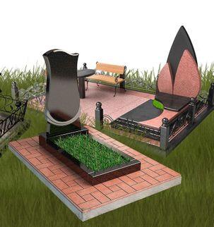 Укладка тротуарной плитки на кладбище под ключ