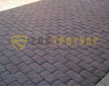Вариант укладки тротуарной плитки английский булыжник